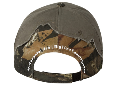 Green Camo Militia Cap Back